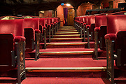 The empty auditorium of the London Coliseum, home of English National Opera ENO, remains closed for performances during the Coronavirus pandemic lockdown, on 7th July 2020, in London, England. The UK's theatre ticket revenue contributes £1.28bn to the nation's economy, in which there are 290,000 jobs 70% are at risk so the government has announced a financial rescue package for the Arts industry, a £1.15bn support for cultural organisations in England that is made up of £880m in grants and £270m of repayable loans. But theatre and opera companies such as ENO, whose last performance was The Marriage of Figaro on 14th March, will stay closed for the foreseeable future until there are changes in social distance and safety guidelines. The 2,395-seat Coliseum 1904 is a Baroque revival Wrenaissance style theatre, built as one of West Ends largest and most luxurious variety theatres.