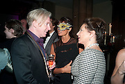PHILIP TREACY; BARONESS DEBBIE VON BISMARCK; DORITT MOUSSASIEFF,  , Amanda Eliasch birthday dinner. North Audley st. London. 12 May 2010. -DO NOT ARCHIVE-© Copyright Photograph by Dafydd Jones. 248 Clapham Rd. London SW9 0PZ. Tel 0207 820 0771. www.dafjones.com.