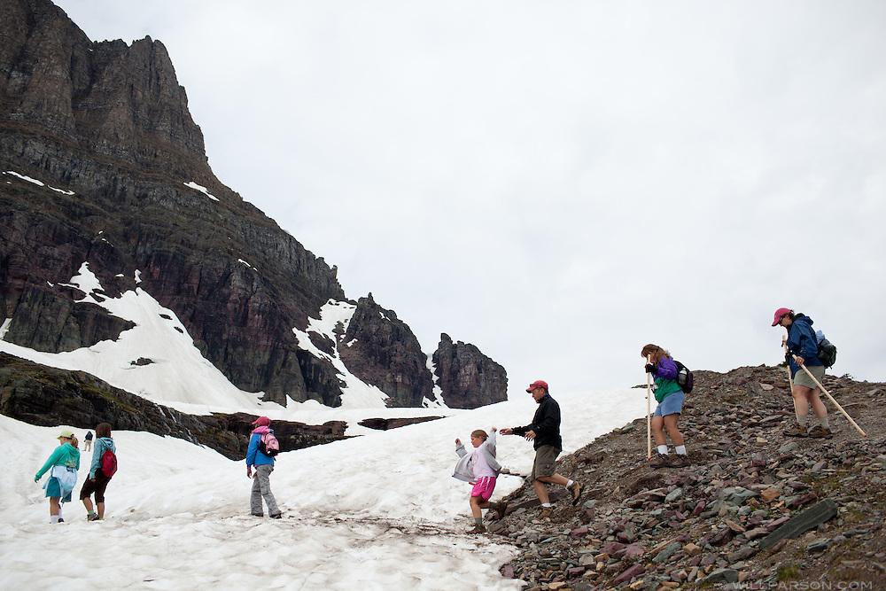 Hidden Lake Trail, Glacier National Park, Montana.