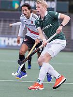 AMSTELVEEN - Jochem Bakker (Rotterdam) tijdens de competitie hoofdklasse hockeywedstrijd heren, Amsterdam -Rotterdam (2-0) .  COPYRIGHT KOEN SUYK