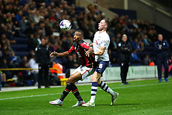 Junior Stanislas of Bournemouth in action with Alan Browne of Preston North End - Mandatory byline: Matt McNulty/JMP - 07966386802 - 22/09/2015 - FOOTBALL - Deepdale Stadium -Preston,England - Preston North End v Bournemouth - Capital One Cup - Third Round