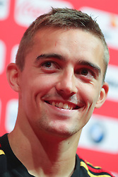 September 5, 2018 - Tubize, BELGIUM - Belgium's Timothy Castagne pictured during a press conference of Belgian national soccer team the Red Devils in Tubize, Wednesday 05 September 2018. The team is preparing for a friendly match against Scotland on 07 September and the UEFA Nations League match against Iceland on 11 September. BELGA PHOTO BRUNO FAHY (Credit Image: © Bruno Fahy/Belga via ZUMA Press)