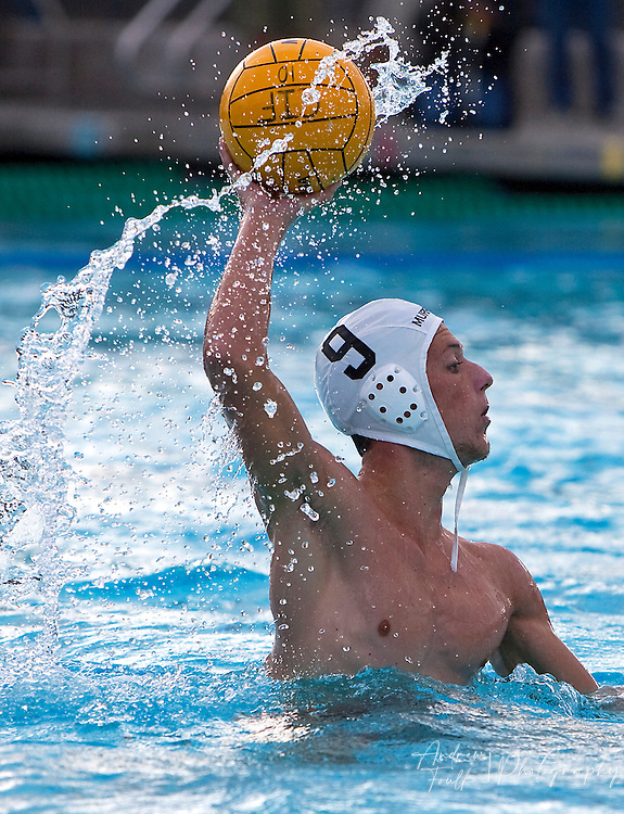 /Andrew Foulk/ For The Californian/.Murrieta Valley's Sean Shugrou, passes the ball during the first period of the CIF SS Division II final match against  Corona Del Mar.