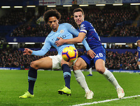 Football - 2018 / 2019 Premier League - Chelsea vs. Manchester City<br /> <br /> Leroy Sane of Man City and Cesar Azpilicueta, at Stamford Bridge.<br /> <br /> COLORSPORT/ANDREW COWIE