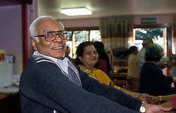 Elderly people in keep fit class Haringey North London UK