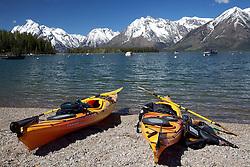 Sea Kayaks, Leeks Marina, Jackson Lake, Grand Tetons, Grand Teton National Park