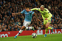 Manchester City's Joao cancelo vies for possession with Marin Leovac of Dinamo Zagreb<br /> <br /> Football - 2019 / 2020 UEFA Champions League - Champs Lge Grp C: Man City-D Zagreb<br /> <br /> , at Etihad Stadium<br /> <br /> Colorsport / Terry Donnelly