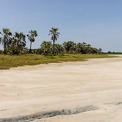 Paisagem do Párque Nacional da Kissama (Quiçama) perto da foz do rio Kwanza (Cuanza). Bengo, Angola