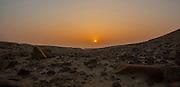 Desert sunrise. Photographed in the Judaean Desert, Israel