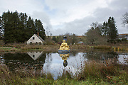 The Kagyu Samye Ling Monastery on the 10th November 2018 in Eskdalemuir, Scotland in the United Kingdom. Founded in 1967 and located near Langholm in a peaceful valley on the banks of the river Esk, the Kagyu Samye Ling Monastery and Tibetan Centre is a Tibetan Buddhist complex associated with the Karma Kagyu school.