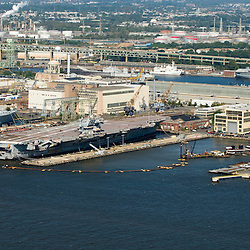 Aerial views of Dredging operations in the Philadelphia Shipyards