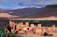 Maroc - Haut Atlas - Ouarzazate -Kasbah de Tamtakh - Environs de Aït Benaddhou