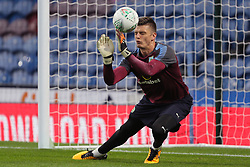 """Burnley goalkeeper Nick Pope warms up before the Carabao Cup, third round match at Turf Moor, Burnley. PRESS ASSOCIATION Photo. Picture date: Tuesday September 19, 2017. See PA story SOCCER Burnley. Photo credit should read: Richard Sellers/PA Wire. RESTRICTIONS: EDITORIAL USE ONLY No use with unauthorised audio, video, data, fixture lists, club/league logos or """"live"""" services. Online in-match use limited to 75 images, no video emulation. No use in betting, games or single club/league/player publications."""
