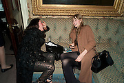 TALLULAH HARLECH; EDIE CAMPBELL, Screening of 'To Die For' to launch Charlotte Olympia's new collection at Mark's Club. London.  22 February 2011. -DO NOT ARCHIVE-© Copyright Photograph by Dafydd Jones. 248 Clapham Rd. London SW9 0PZ. Tel 0207 820 0771. www.dafjones.com.