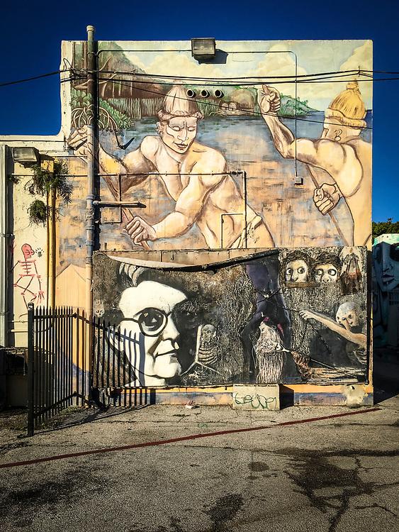 Mural in alley near Miami's NE 2nd Avenue