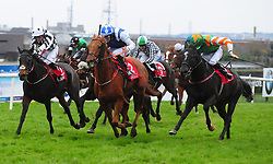 Phebes Dream and Mark Gallagher (left) win the Reaney's Of Galway Supporting NUIG Volunteer Services Abroad Handicap during day three of the October Festival at Galway Racecourse.