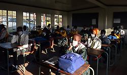 South Africa - Coronavirus - Pretoria - 08 June 2020 - Gauteng MEC of education Panyaza Lesufi visits Olivenhoutbosch Secondary School.<br /> Picture: Oupa Mokoena/African News Agency (ANA)