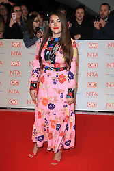 at the National Television Awards at the 02 Arena in London, UK. 23 Jan 2018 Pictured: Lacey Turner. Photo credit: MEGA TheMegaAgency.com +1 888 505 6342