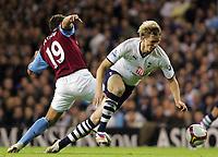 Tottenham Hotspur FC vs Aston Villa FC Premier League 15/09/08<br /> Photo Nicky Hayes/Fotosports International<br /> Roman Pavlyuchenko is fouled by Stiliyan Petrov