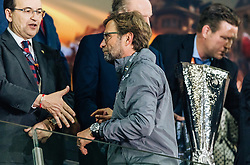 18.05.2016, St. Jakob Park, Basel, SUI, UEFA EL, FC Liverpool vs Sevilla FC, Finale, im Bild ein enttäuschter Trainer Juergen Klopp (FC Liverpool) geht beim Pokal vorbei // a disappointed coach Juergen Klopp (Liverpool) goes past the Cup during the Final Match of the UEFA Europaleague between FC Liverpool and Sevilla FC at the St. Jakob Park in Basel, Switzerland on 2016/05/18. EXPA Pictures © 2016, PhotoCredit: EXPA/ JFK