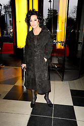 NANCY DELL'OLIO at the opening of the Victoria & Albert Museum's latest exhibition 'Grace Kelly: Style Icon' opened by His Serene Highness Prince Albert of Monaco at the V&A on 15th April 2010.