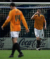 Photo: Paul Thomas/Sportsbeat Images.<br /> Preston North End v Hull City. Coca Cola Championship. 04/12/2007.<br /> <br /> Hull's Michael Turner (R) shows his dejection after Preston score.