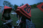 Shadow Armada practices in Sutton's Bay, Michigan on July 8, 2015.