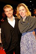 Premiere van de film Sonny Boy op maandag 17 januari in het Circus Theater in Scheveningen.<br /> <br /> Op de foto:<br /> <br />  Micha Hulshof en partner