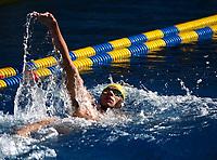 January 20, 2018; Spieker Aquatics Complex, Berkeley, California, USA; Swimming: California Golden Bears vs Arizona Wildcats; Men's 200 Yard IM; Bryce Mefford <br /> <br /> Photo credit: Kelley L Cox- KLC fotos