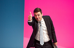 Labour Party Conference<br /> at Manchester Central, Manchester, Great Britain <br /> 24th September 2014 <br /> <br /> Andy Burnham MP<br /> Shadow Health Secretary <br /> speech <br /> Health & Care debate <br /> <br /> <br /> Photograph by Elliott Franks <br /> Image licensed to Elliott Franks Photography Services