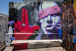 Mural Next To  Pablo Neruda House in Santiago