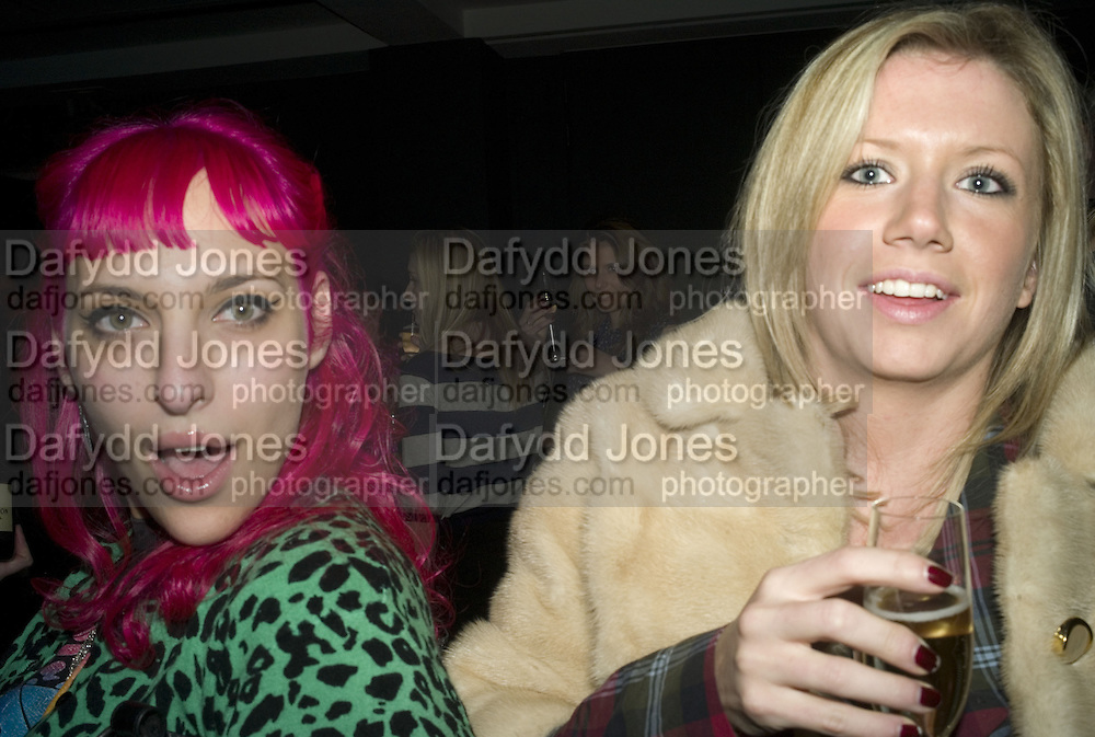 SERENA MATTAL AND LUCINDA COOK, DKNY Night Fragrance launch party. The Serpentine Gallery, London, W2. 12 December 2007. -DO NOT ARCHIVE-© Copyright Photograph by Dafydd Jones. 248 Clapham Rd. London SW9 0PZ. Tel 0207 820 0771. www.dafjones.com.