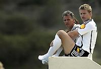 Fotball / Football<br /> La Manga Cup 2007 - Spain<br /> 23.02.2007<br /> Rosenborg v KR Reykjavik Island 1-0<br /> Foto: Morten Olsen, Digitalsport<br /> <br /> Steffen Iversen og Rune Bratseth - RBK