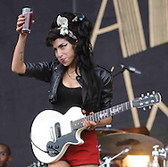 Amy Winehouse who died today <br /> Stock shot take at T in The Park <br /> Pix Dave nelson