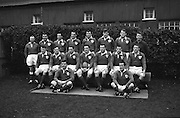 Irish Rugby Football Union, Ireland v England, Five Nations, Landsdowne Road, Dublin, Ireland, Saturday 9th February, 1963,.9.2.1963, 2.9.1963,..Referee- H B Laidlaw, Scottish Rugby Union, ..Score- Ireland 0 - 0 England, ..Irish Team, ..B D E Marshall, Wearing number 15 Irish jersey, Full Back, Queens University Rugby Football Club, Belfast, Northern Ireland,..W R Hunter, Wearing number 14 Irish jersey, Right Wing, C I Y M S Rugby Football Club, Belfast, Northern Ireland, ..J C Walsh,  Wearing number 13 Irish jersey, Right Centre, University college Cork Football Club, Cork, Ireland,..P J Casey, Wearing number 12 Irish jersey, Left Centre, University College Dublin Rugby Football Club, Dublin, Ireland, ..N H Brophy, Wearing number 11 Irish jersey, Left wing, Blackrock College Rugby Football Club, Dublin, Ireland, ..M A English, Wearing number 10 Irish jersey, Stand Off, Landsdowne Rugby Football Club, Dublin, Ireland, ..J C Kelly, Wearing number 9 Irish jersey, Scrum Half, University College Dublin Rugby Football Club, Dublin, Ireland,..R J McLoughlin, Wearing number 1 Irish jersey, Forward, Blackrock College Rugby Football Club, Dublin, Ireland, ..A R Dawson, Wearing number 2 Irish jersey, Forward, Wanderers Rugby Football Club, Dublin, Ireland, ..S Millar, Wearing number 3 Irish jersey, Forward, Ballymena Rugby Football Club, Antrim, Northern Ireland,..W A Mulcahy, Wearing number 5 Irish jersey, Captain of the Irish team, Forward, Bective Rangers Rugby Football Club, Dublin, Ireland,  ..W J McBride, Wearing number 5 Irish jersey, Forward, Ballymena Rugby Football Club, Antrim, Northern Ireland,..E P McGuire, Wearing number 6 Irish jersey, Forward, University college Galway Football Club, Galway, Ireland,..C J Dick, Wearing number 8 Irish jersey, Forward, Ballymena Rugby Football Club, Antrim, Northern Ireland,..M D Kiely, Wearing number 7 Irish jersey, Forward, Landsdowne Rugby Football Club, Dublin, Ireland,