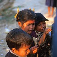 Asia, Nepal, Bardia. Tharu kids of Bardia.