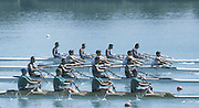 Milan ITALY,  General View of the BW4X  Mark HAMMOND Simon LYALL-COTTLE,  Tom GALE, Mark HUNTER, competing in the 1997 Nations Cup U23  World Rowing Championships. Course, Idra Scala. Province of Milan.<br /> <br /> [Mandatory Credit; Peter Spurrier/Intersport-images] 1997 U23 Nations Cup U23 Championships. Milan Italy