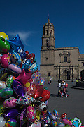 View of Iglesia de San Francisco in Morelia, Michoacan state Mexico. The city is a UNESCO World Heritage Site and hosts one of the best preserved collection of Spanish Colonial architecture in the world. The church was built by the Franciscans in 1531.