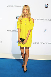 © Licensed to London News Pictures. Laura Whitmore  at the BMW i3 global reveal party, Old Billingsgate Market, London UK, 29 July 2013. Photo Credit:  Richard Goldschmidt/LNP