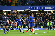 GOAL - Chelsea Midfielder Willian scores from the penalty spot 1-0 during the The FA Cup fourth round match between Chelsea and Sheffield Wednesday at Stamford Bridge, London, England on 27 January 2019.