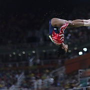 Gymnastics - Olympics: Day 2   Gabrielle Douglas #392 of the United States performing her routine on the Balance Beam during the Artistic Gymnastics Women's Team Qualification round at the Rio Olympic Arena on August 7, 2016 in Rio de Janeiro, Brazil. (Photo by Tim Clayton/Corbis via Getty Images)