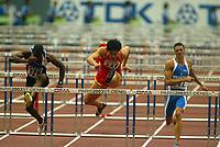 Athletics, 30. august 2003, VM Paris, World Championship in Athletics,   Xiang Liu (244), Dudley Dorival (628), Andrea Giaconi, Italia