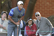 Tiger Woods watches his tee shot on hole 7 during Round 2 of the 2011 Chevron World Challenge at the Sherwood Country Club in Thousand Oaks, Calif., on Friday, Dec. 2, 2011.
