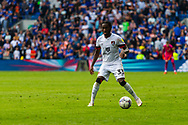 Bournemouth defender Jordan Zemura  (33) in action  during the EFL Sky Bet Championship match between Cardiff City and Bournemouth at the Cardiff City Stadium, Cardiff, Wales on 18 September 2021.