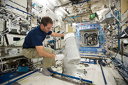 French cosmonaut Thomas Pesquet takes photos on board International Space Station, on November 21, 2016. Photo by ESA via Balkis Press/ABACAPRESS.COM