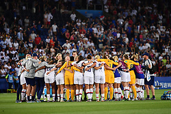 June 29, 2019 - Paris, ile de france, France - USA Football Women's football team celebrate the win of  the quarter-final between FRANCE vs USA in the 2019 women's football World cup at Parc des Princes in Paris, on the 28 June 2019. (Credit Image: © Julien Mattia/NurPhoto via ZUMA Press)