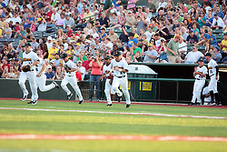 "1 June 2010: Cornbelters starters take the home field for the first time. The Windy City Thunderbolts are the opponents for the first home game in the history of the Normal Cornbelters in the new stadium coined the ""Corn Crib"" built on the campus of Heartland Community College in Normal Illinois."