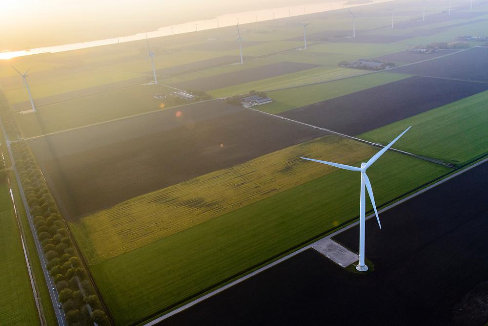 Nederland, Flevoland, Zeewolde, 28-10-2014; Windpark Eemmeerdijk. Windfarm Amalia.<br /> luchtfoto (toeslag op standaard tarieven);<br /> aerial photo (additional fee required);<br /> copyright© foto/photo Siebe Swart