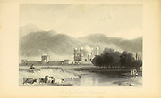 At Nujibabad, Rohilcund [Rohilkhand Or Previously Rampur State is a region in the northwestern part of the Uttar Pradesh state of India] From the book ' The Oriental annual, or, Scenes in India ' by the Rev. Hobart Caunter Published by Edward Bull, London 1835 engravings from drawings by William Daniell