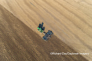63801-11801 Tilling field after soybean harvest-aerial Marion Co.  IL